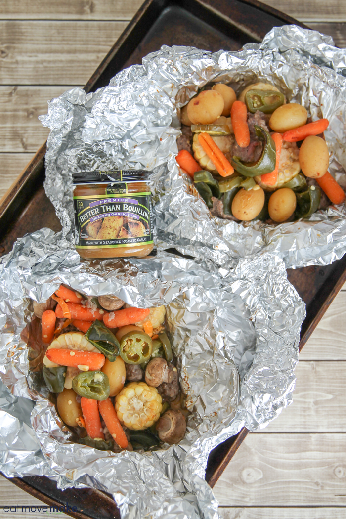 steak and potato foil packet meals