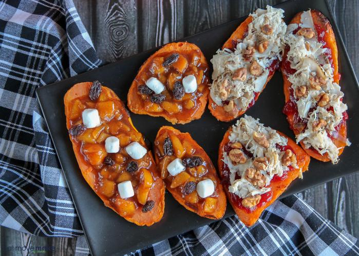 A tray of sweet potatotoasts