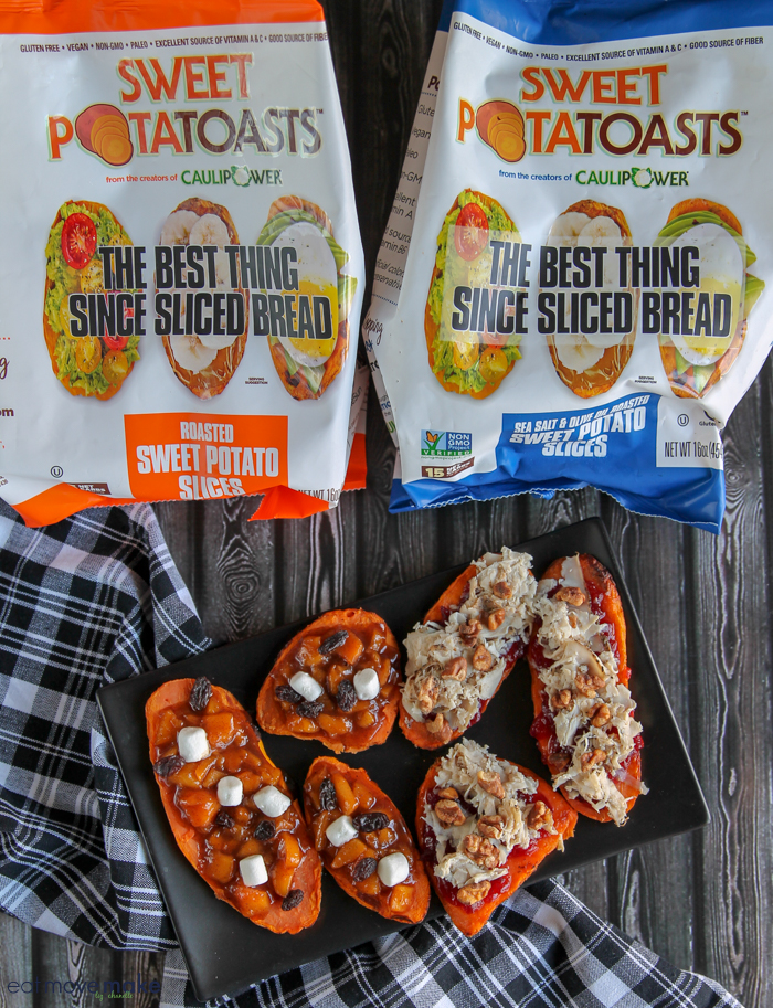 A close up of Sweet PotatoToasts