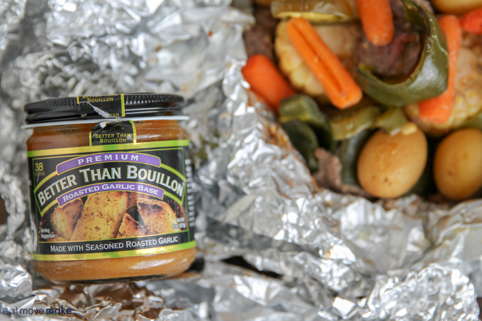 tin foil dinners with Better than Bouillon