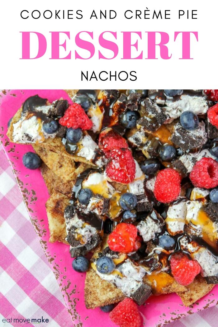 cookies and creme pie dessert nachos