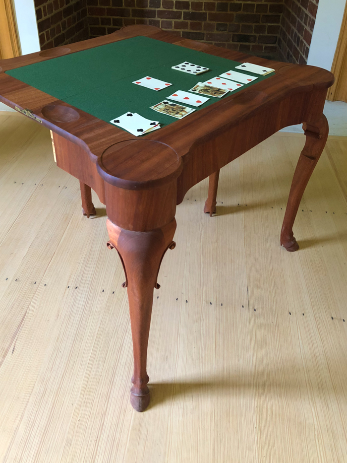 a wooden game table