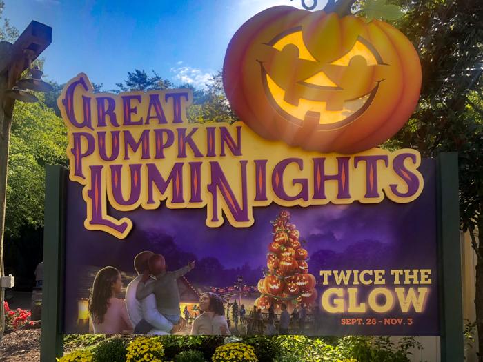 Great Pumpkin LumiNights sign