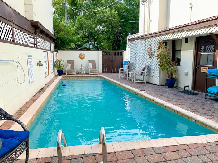 pool at St. Francis Inn