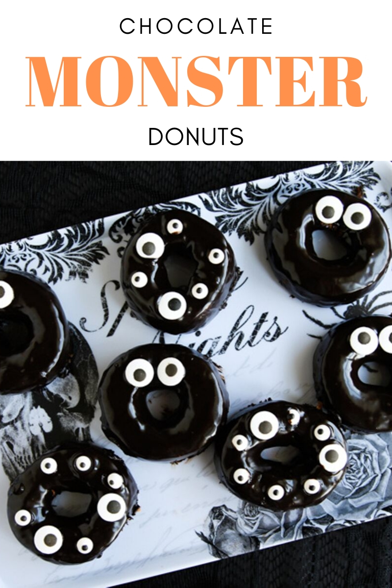 chocolate monster donuts for halloween