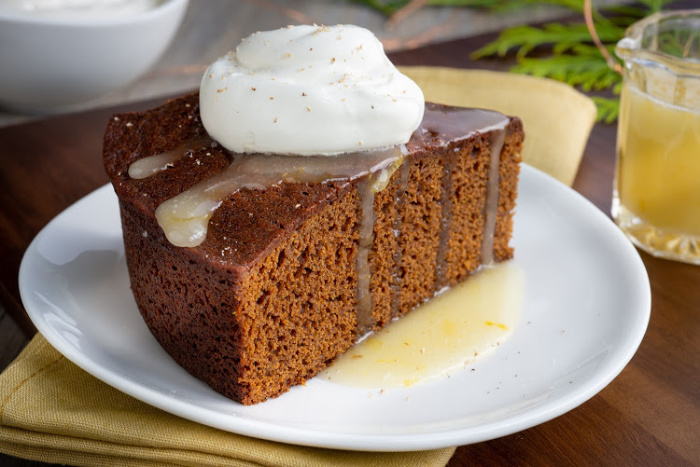 Gingerbread cake recipe from A Gingerbread Romance