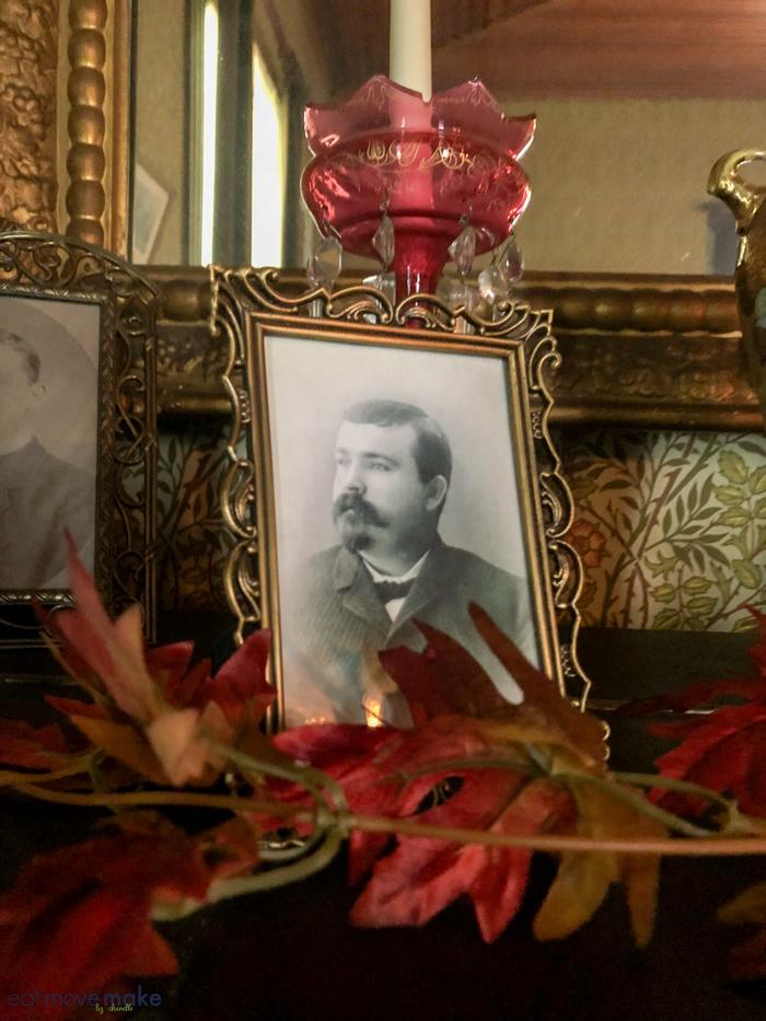 a photograph on a table