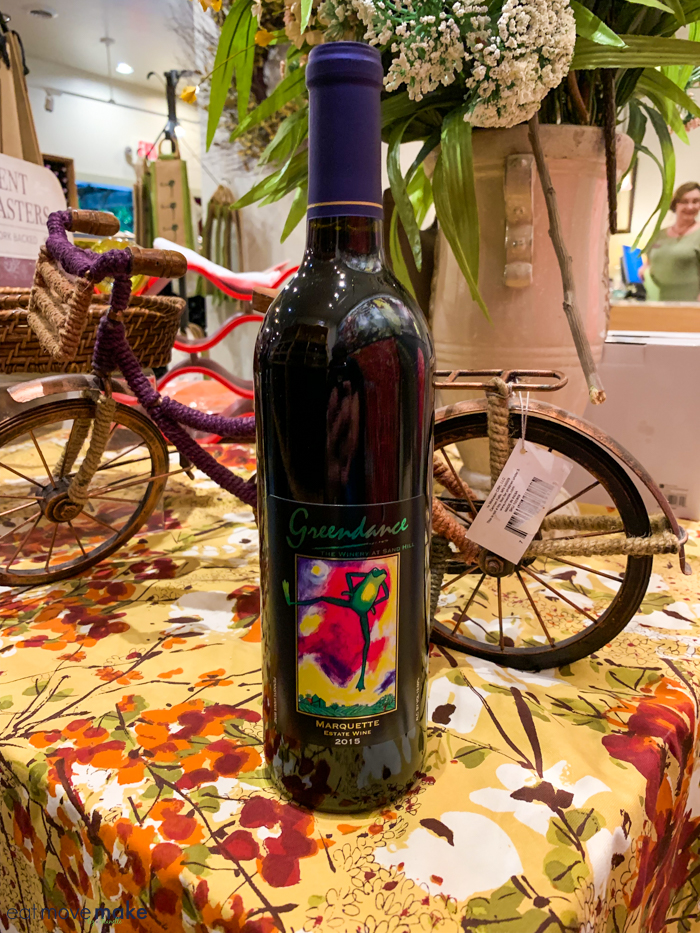 a bottle of wine on table