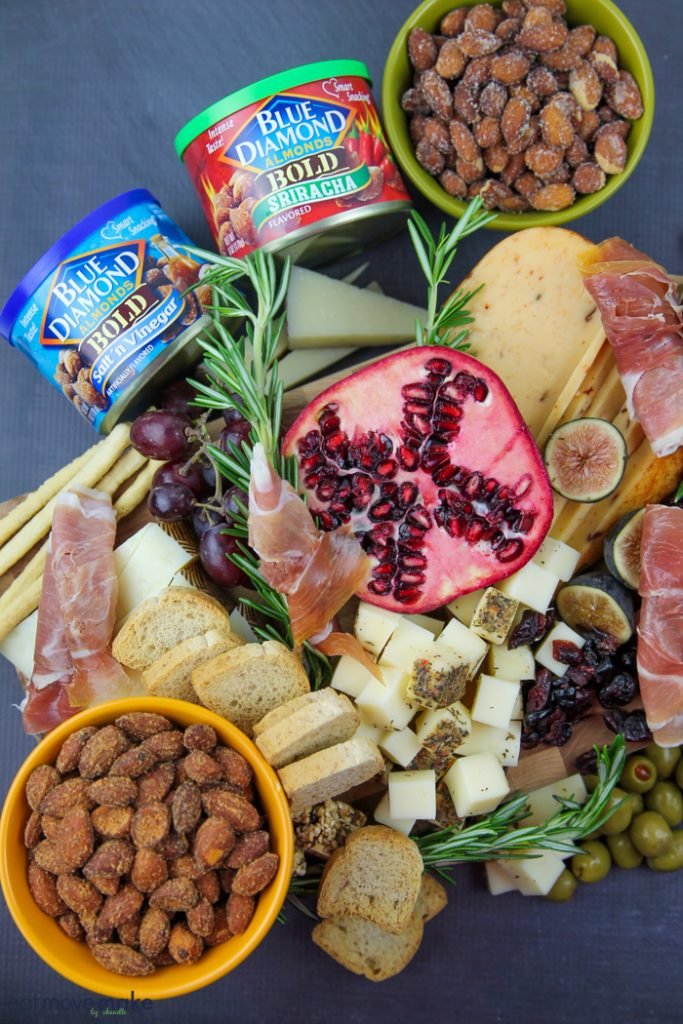 fruit, cheese and nut platter