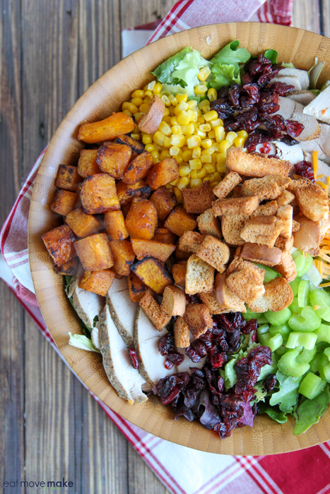 a bowl of Thanksgiving salad