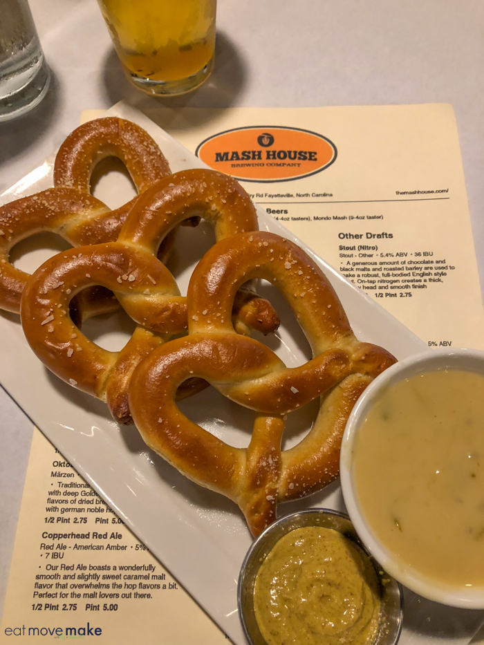 pretzels and beer cheese