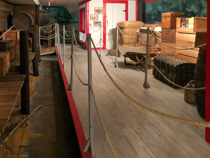 steamboat display in museum
