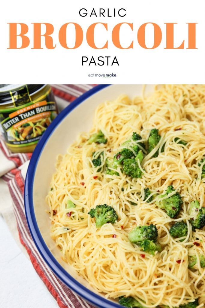 garlic broccoli pasta side dish or entree