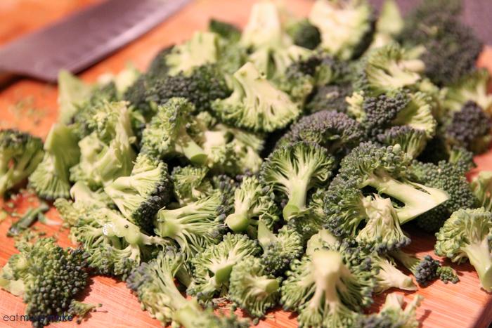 chopped broccoli crown