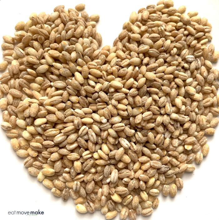 heart made of pearl barley