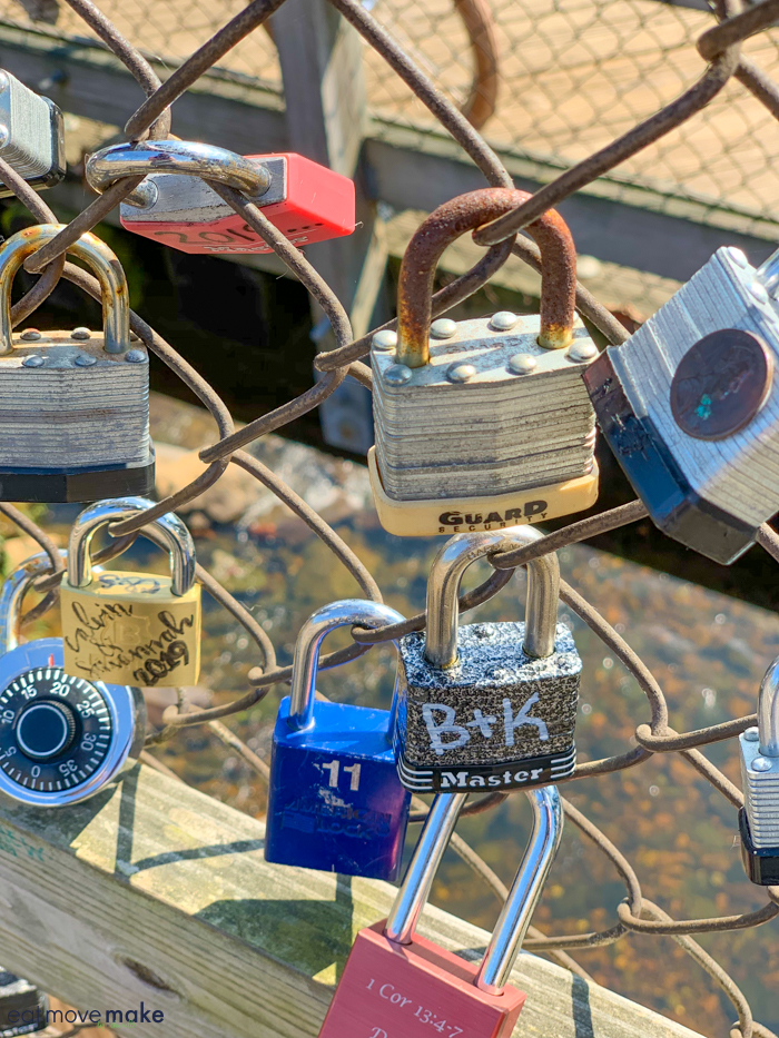 padlocks on fence