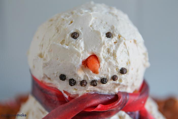 cheese ball snowman head