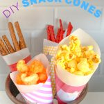 DIY paper food cones