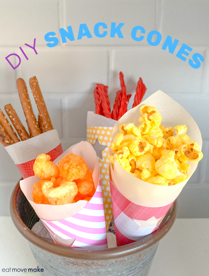 DIY paper food cones - paper cones for food and snacks