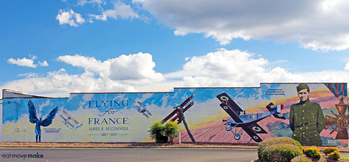 Flying for France James McConnell Mural - Carthage, NC