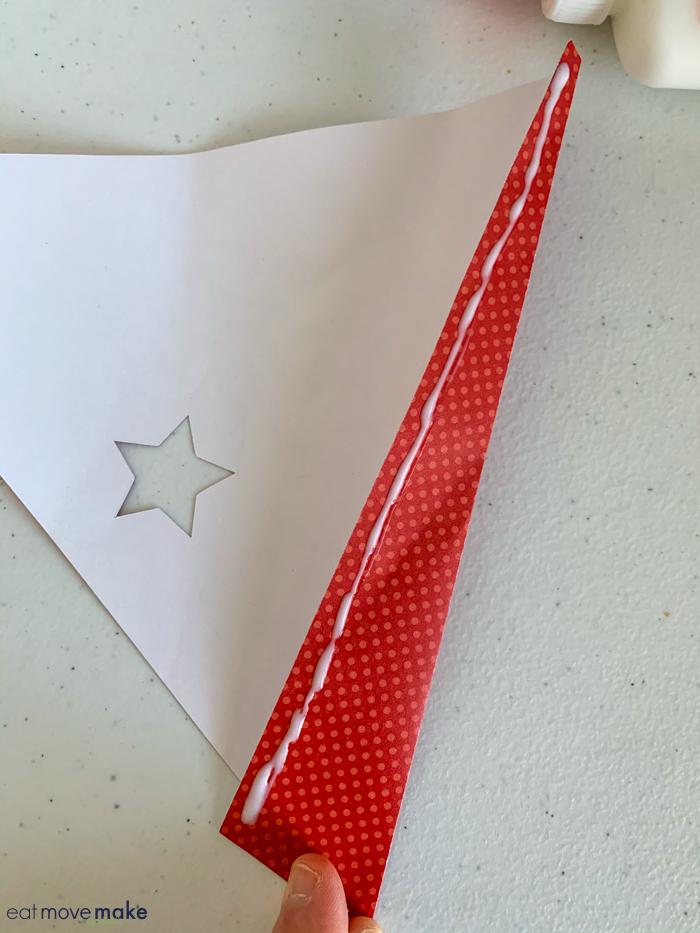 gluing paper cone