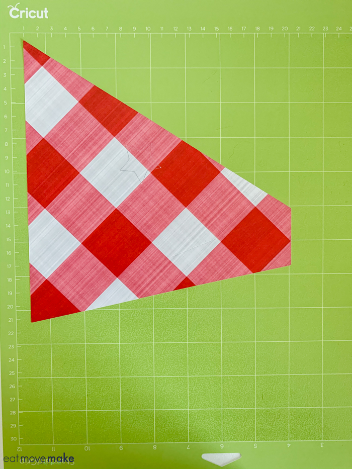 cone on mat after cutting in Cricut Explore Air 2