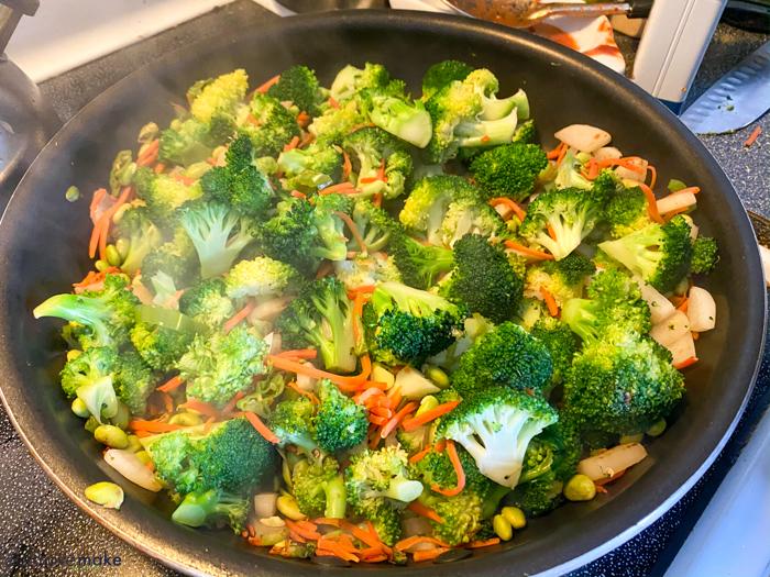 sauteed broccoli and carrots