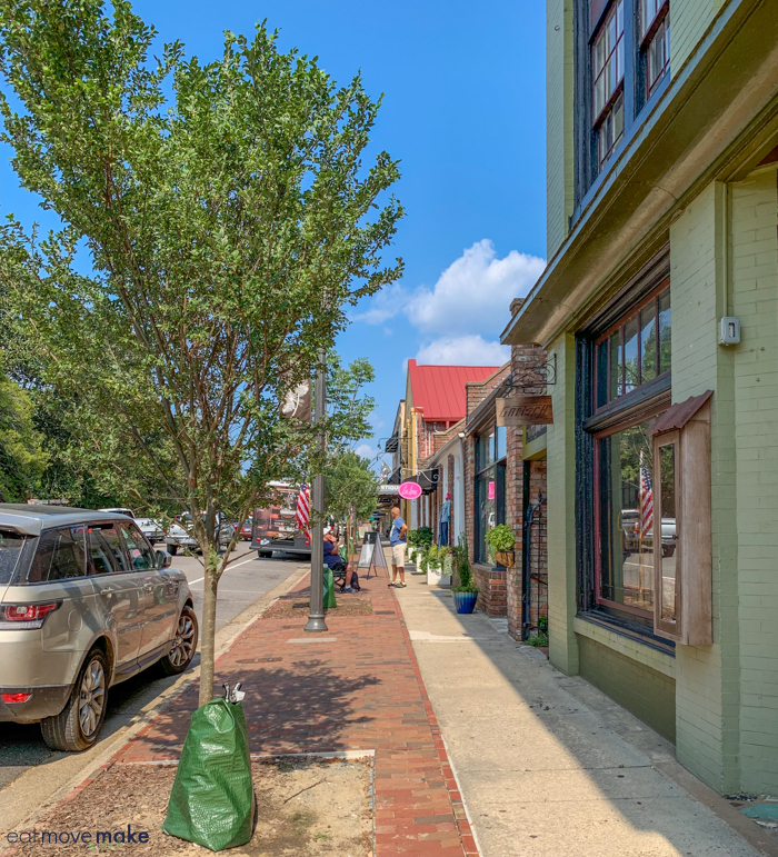 historic downtown Southern Pines NC