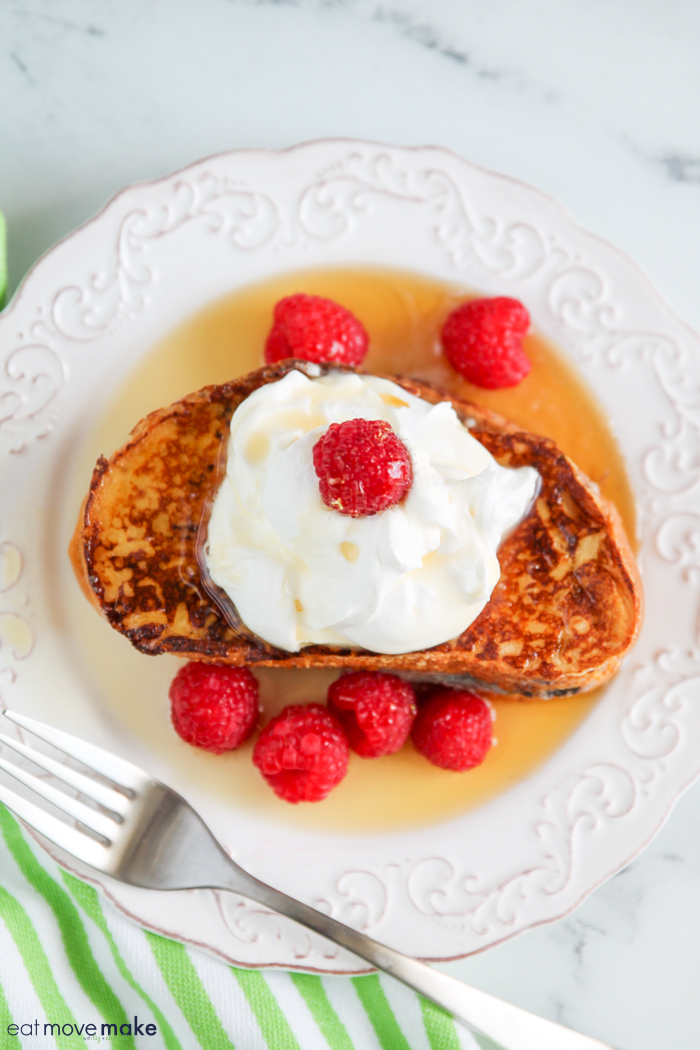 A slice of stuffed French toast