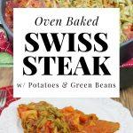 Oven Baked Swiss Steak round steak recipe