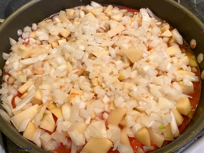 add onion to frying pan
