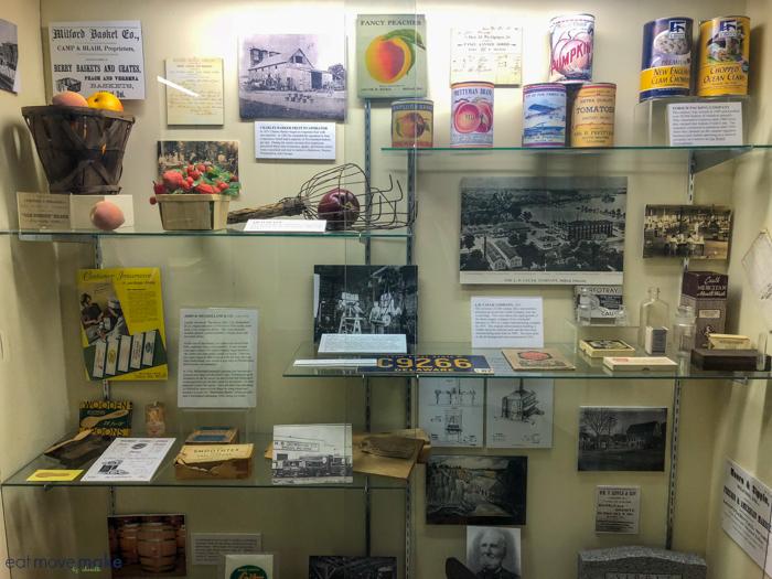 exhibit in Milford Museum