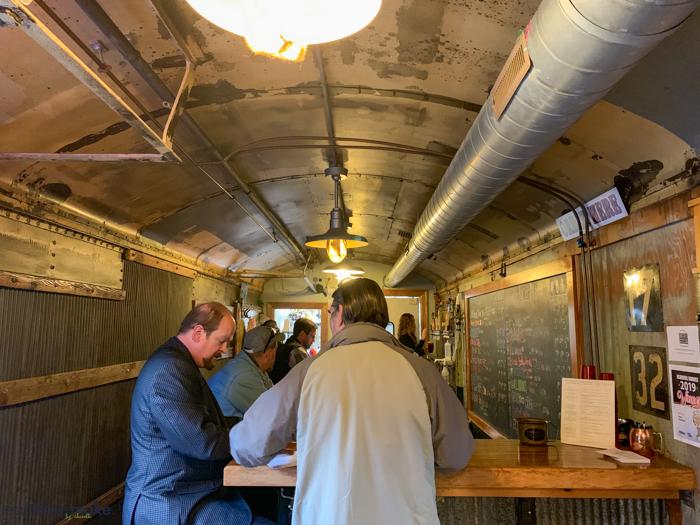 inside Box Car Brew Works