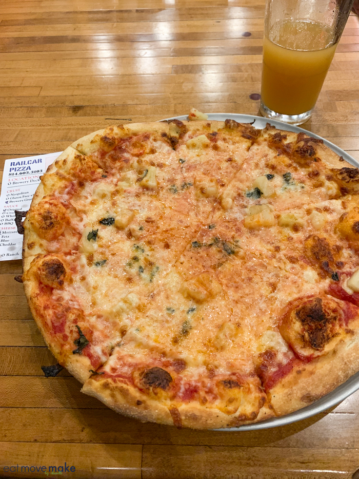 pizza from Railcar Pizza
