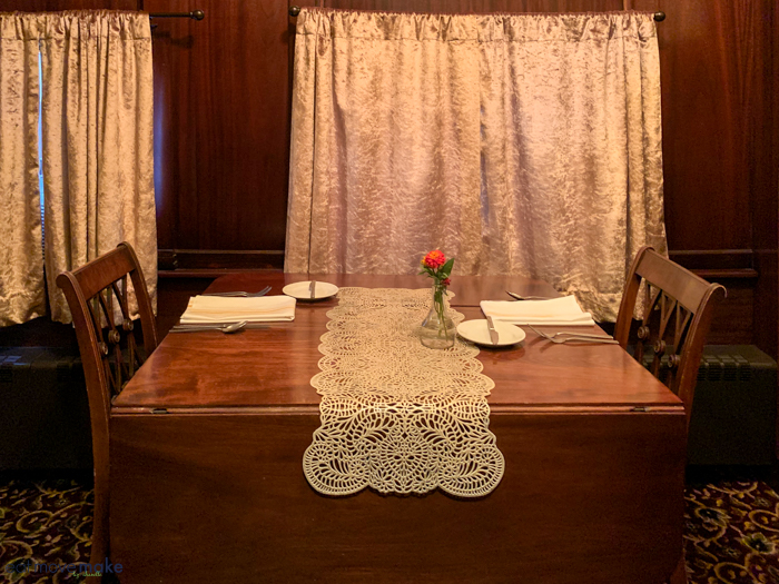 private dining in parlor car