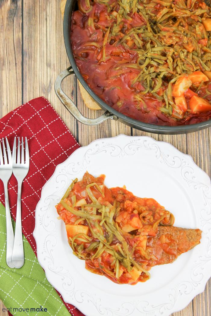 recipe for round steak in tomato sauce