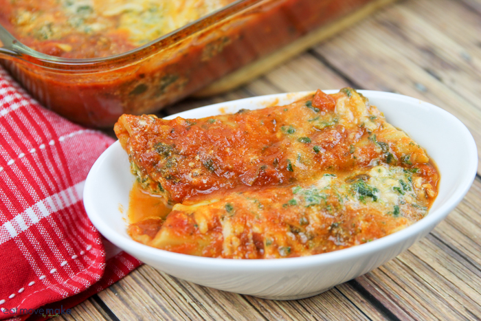 no boil spinach and cheese manicotti