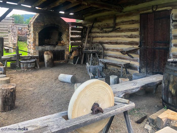 sander at Fort Roberdeau
