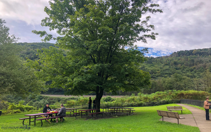 picnic area at Horseshoe Curve