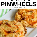 loaded potato pinwheels on tray
