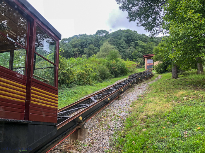 single-track funicular at Horseshoe Curve
