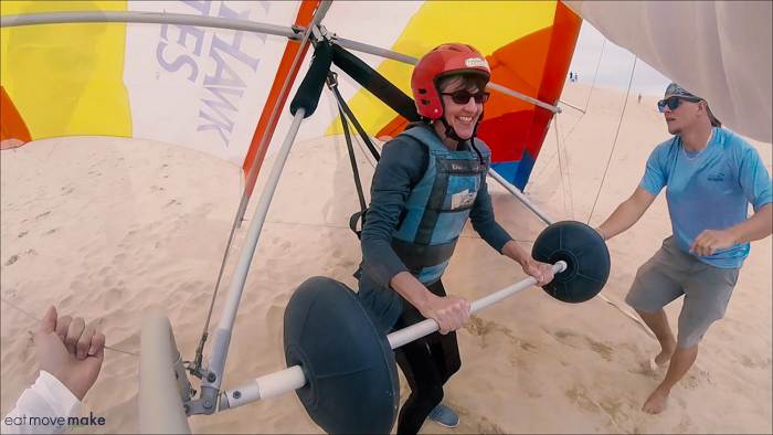 landing when hang gliding