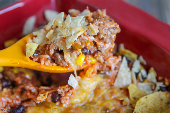 spoonful of taco casserole