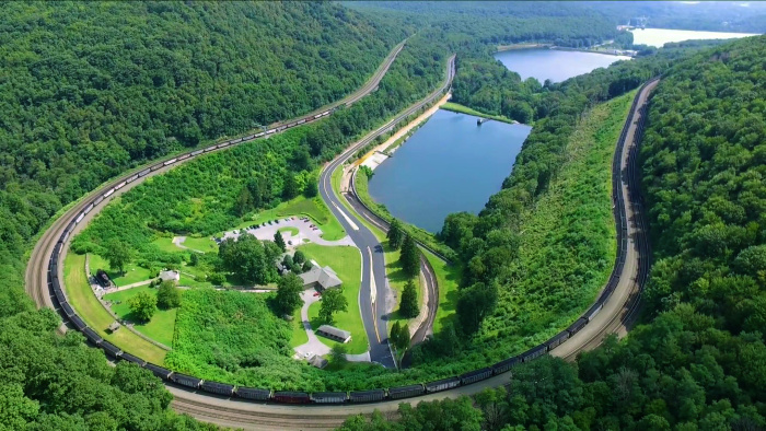 Horseshoe Curve Aerial View