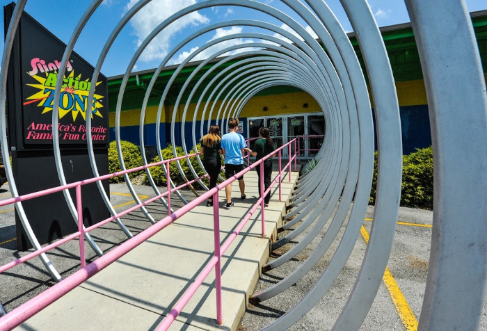 exterior of Slinky Action Zone - indoor Altoona attraction