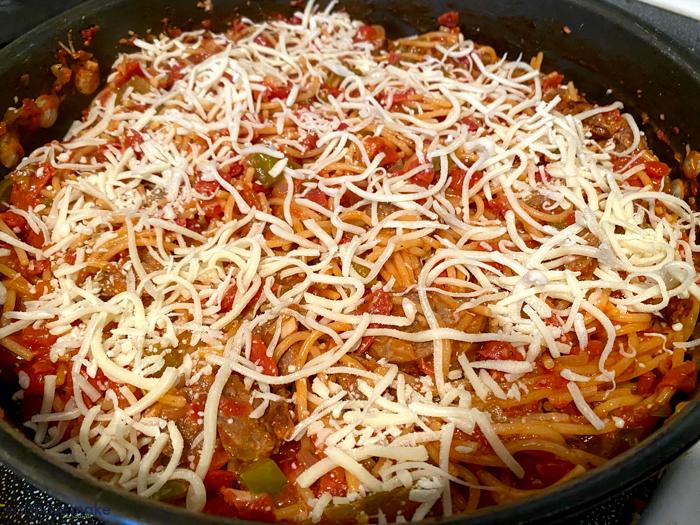 sprinkle mozzarella cheese on top