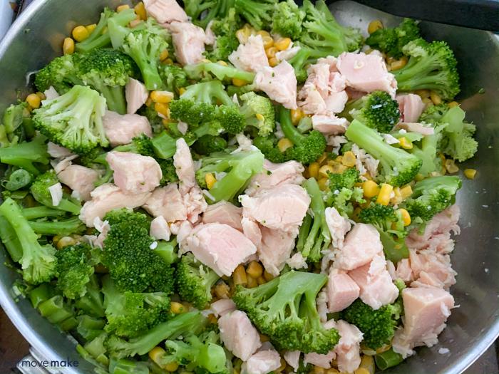 add chicken to skillet
