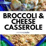 Broccoli and Cheese Casserole in dish