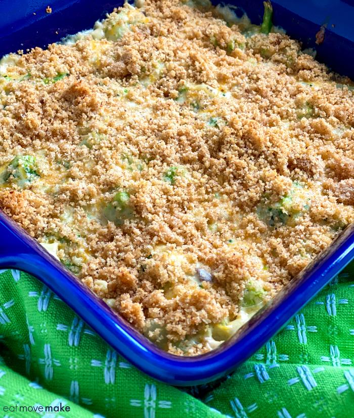 bread crumbs sprinkled on casserole