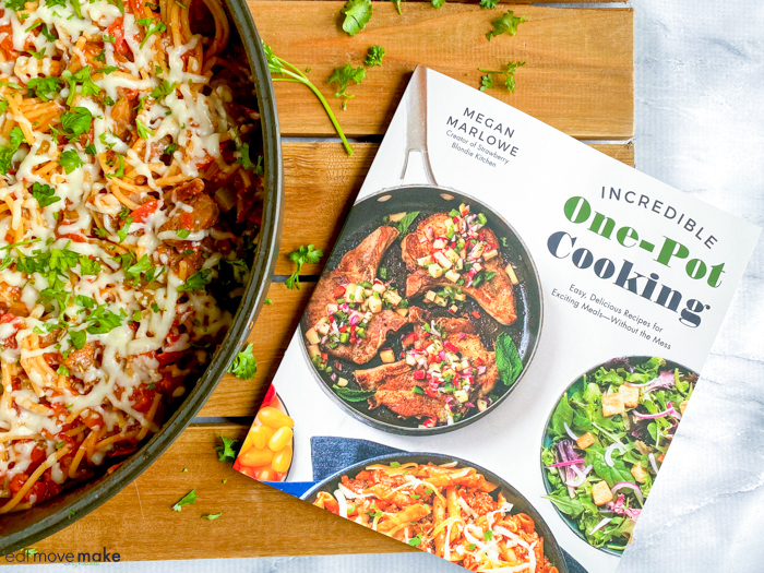 incredible one-pot cooking cookbook by deluxe pizza spaghetti skillet